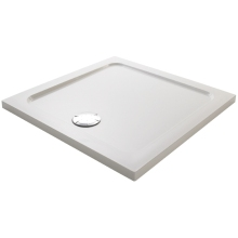 Mira Flight 1000mm Low Square Shower Tray - White