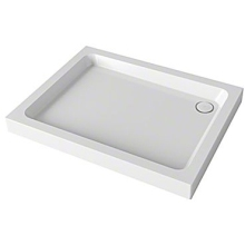 Mira Flight 800mm x 800mm Square Shower Tray - 4 Upstands - White