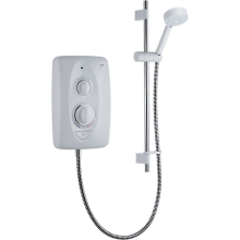 Mira Jump Multi-Fit 7.5kW Shower - White / Chrome
