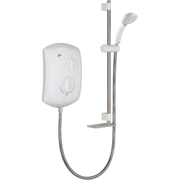 Mira Jump Multi-Fit 9.5kW Shower – White & Chrome