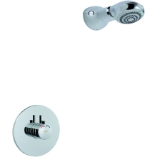 Mira Miniduo and Eco Showerhead Built in Rail Chrome