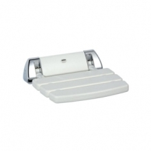 Mira Shower Seat - White/Chrome