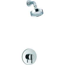 Mira Silver Built-In Valve Thermostatic Mixer Shower with Fixed Shower Head - Chrome