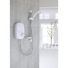 Mira Vigour Manual Power Shower White/Chrome