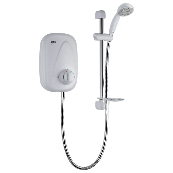 Mira Vigour Manual Power Shower - White/Chrome