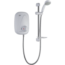 Mira Vigour Thermostatic Power Shower White/Chrome