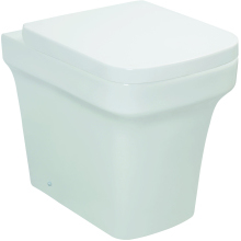 Monaco Back To Wall WC Pan - White