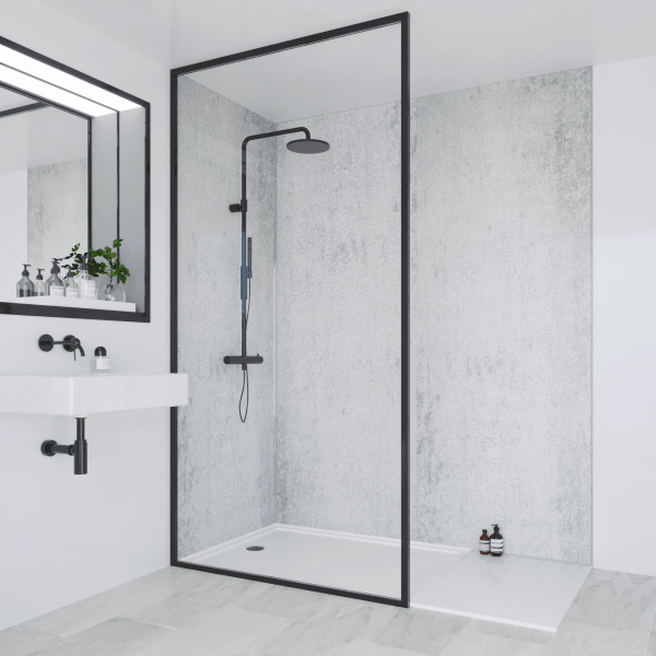 Multipanel Classic Bathroom Wall Panel Arctic Stone Hydrolock Tongue and Groove 2400 x 900mm