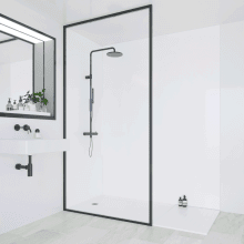Multipanel Classic Bathroom Wall Panel Hydrolock Tongue & Groove 2400x1200mm White