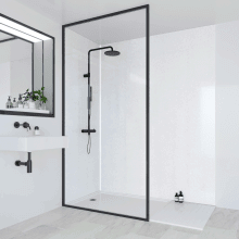 Multipanel Classic Bathroom Wall Panel Hydrolock Tongue & Groove 2400x1200mm Frost White