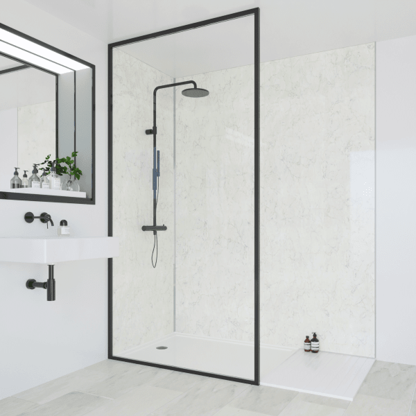 Multipanel Classic Bathroom Wall Panel Hydrolock Tongue & Groove 2400x900mm Grey Marble