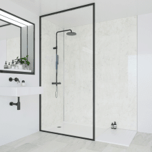 Multipanel Classic Bathroom Wall Panel Hydrolock Tongue & Groove 2400x598mm Grey Marble