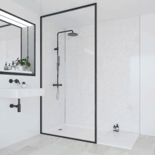 Multipanel Classic Bathroom Wall Panel Hydrolock Tongue & Groove 2400x598mm Classic Marble