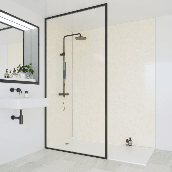 Multipanel Classic Bathroom Wall Panel Hydrolock Tongue & Groove 2400x598mm Natural India