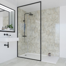 Multipanel Classic Bathroom Wall Panel Hydrolock Tongue & Groove 2400x598mm Antique Marble