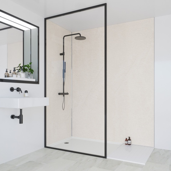 Multipanel Classic Bathroom Wall Panel Hydrolock Tongue & Groove 2400x598mm Warm Mica