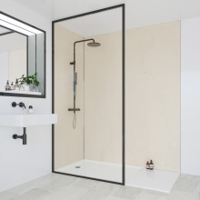 Multipanel Classic Bathroom Wall Panel Hydrolock Tongue & Groove 2400x1200mm Marfil Cream