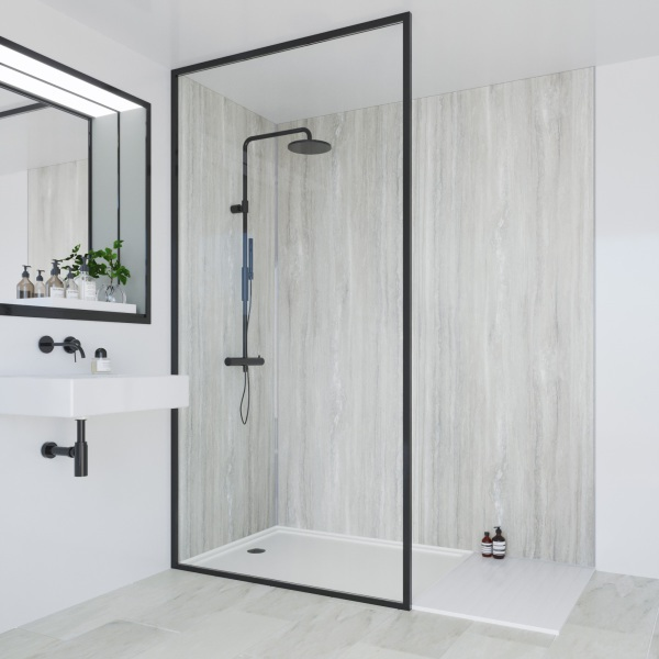 Multipanel Classic Bathroom Wall Panel Jupiter Silver Unlipped 2400 x 900mm
