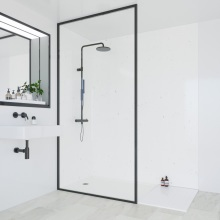 Multipanel Classic Bathroom Wall Panel Hydrolock Tongue & Groove 2400x900mm White Snow