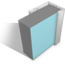 Multipanel End Cap Profile Type C Satin Silver