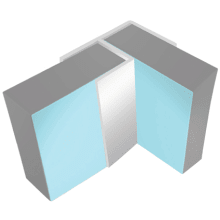 Multipanel Flush Corner Profile Type 100 Polished Silver