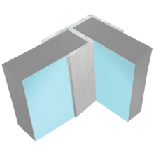 Multipanel Flush Corner Profile Type 100 Satin Silver