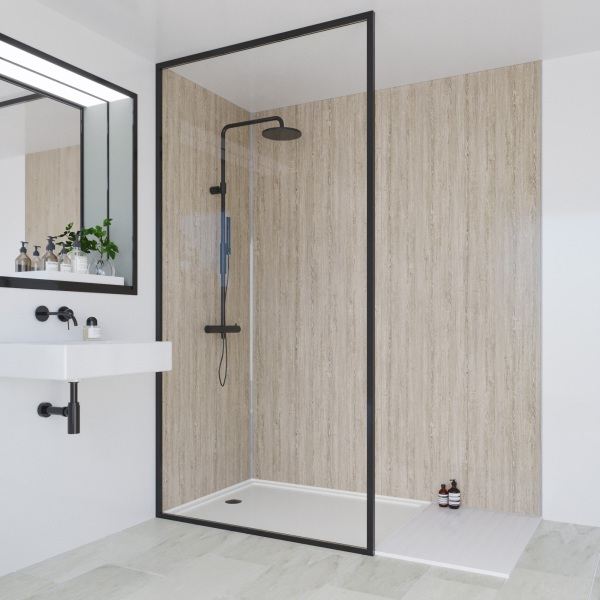 Multipanel Heritage Bathroom Wall Panel Hydrolock Tongue & Groove 2400x598mm Delano Oak