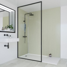 Multipanel Heritage Bathroom Wall Panel Hydrolock Tongue and Groove 2400x900mm Esher Linewood