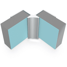 Multipanel Internal Corner Profile Type A Satin Silver