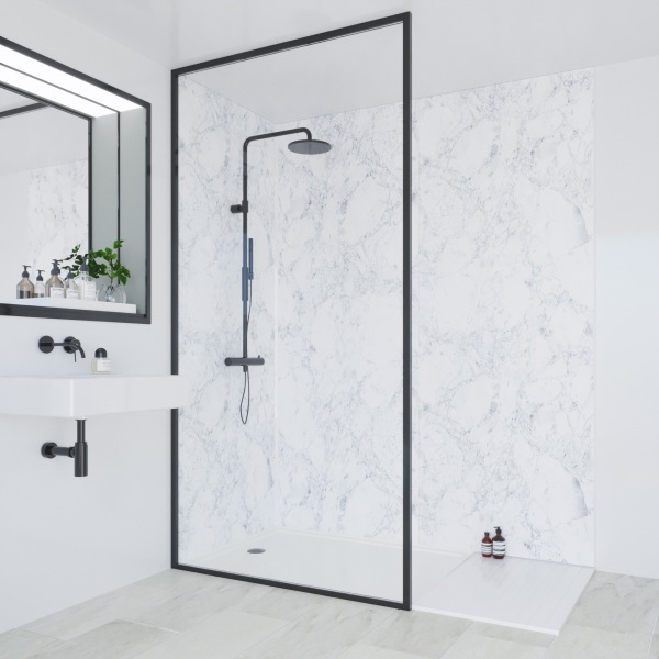 Multipanel Linda Barker Collection Bathroom Wall Panel Unlipped 2400x1200mm Bianca Luna
