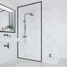Multipanel Linda Barker Collection Bathroom Wall Panel Hydrolock Tongue & Groove 2400x598mm Bianca Luna