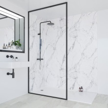 Multipanel Linda Barker Collection Bathroom Wall Panel Hydrolock Tongue & Groove 2400x598mm Calacatta Marble