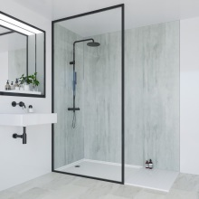 Multipanel Linda Barker Collection Bathroom Wall Panel Unlipped 2400x900mm Concrete Formwood