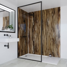 Multipanel Linda Barker Collection Bathroom Wall Panel Dolce Macchiato Hydrolock Tongue and Groove 2400 x 1200mm