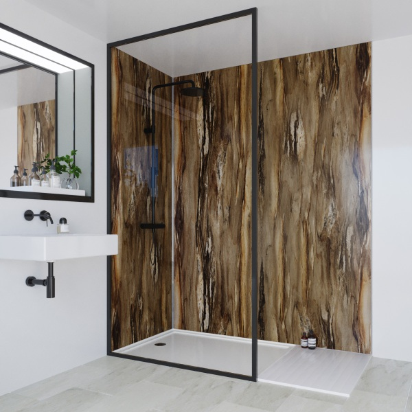 Multipanel Linda Barker Collection Bathroom Wall Panel Dolce Macchiato Hydrolock Tongue and Groove 2400 x 900mm
