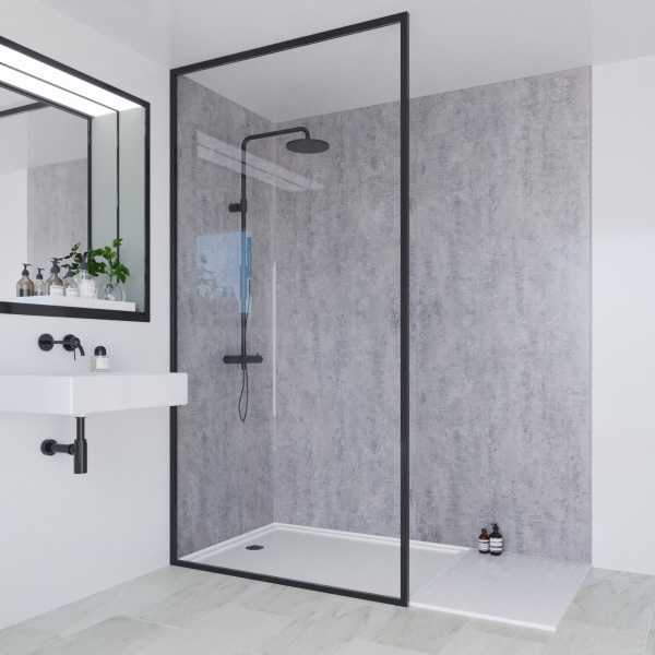 Multipanel Linda Barker Collection Bathroom Wall Panel Concrete Elements Hydrolock Tongue and Groove 2400 x 900mm