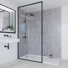 Multipanel Linda Barker Collection Bathroom Wall Panel Concrete Elements Hydrolock Tongue and Groove 2400 x 598mm