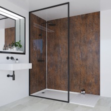Multipanel Linda Barker Collection Bathroom Wall Panel Corten Elements Hydrolock Tongue and Groove 2400 x 1200mm