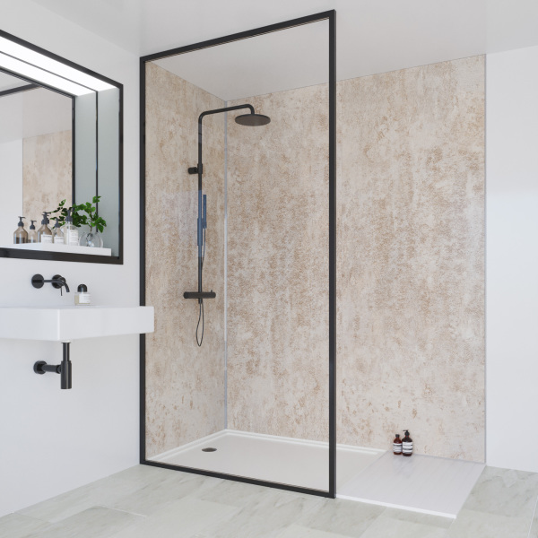 Multipanel Linda Barker Collection Bathroom Wall Panel Hydrolock Tongue and Groove 2400x900mm Stone Elements