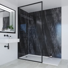 Multipanel Linda Barker Collection Bathroom Wall Panel Hydrolock Tongue & Groove 2400x1200mm Jet Noir