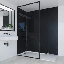 Multipanel Linda Barker Collection Bathroom Wall Panel Hydrolock Tongue & Groove 2400x1200mm Nero Grafite