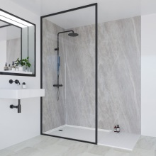 Multipanel Linda Barker Collection Bathroom Wall Panel Hydrolock Tongue & Groove 2400x1200mm Soapstone Stellar