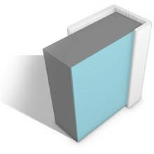 Multipanel PVC Ceiling Profiles Type L End Cap White
