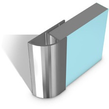 Multipanel Quadrant End Cap Profile Type E Polished Silver