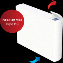 Myson iVector MKII iV60x120 4 Pipe Fan Convector