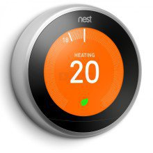 Nest 3rd Generation Smart Learning Thermostat Stainless Steel