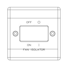 Nexus 3 Pole Fan Isolator 10 Amp Switch