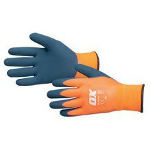 OX Waterproof Thermal Latex Glove Size 9 / Large
