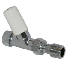 "Pegler Terrier 15mm x 1/2"" Valve Lockshield Straight 368CPLS"