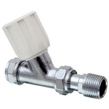 "Pegler Terrier 15mm x 1/2"" Valve White Straight 368CPWH"